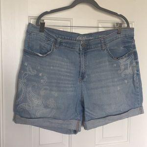 Eddie Bauer jean shorts